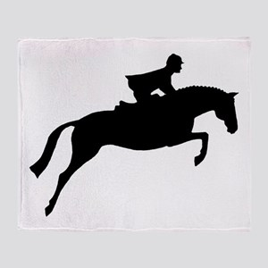 h/j horse & rider Throw Blanket